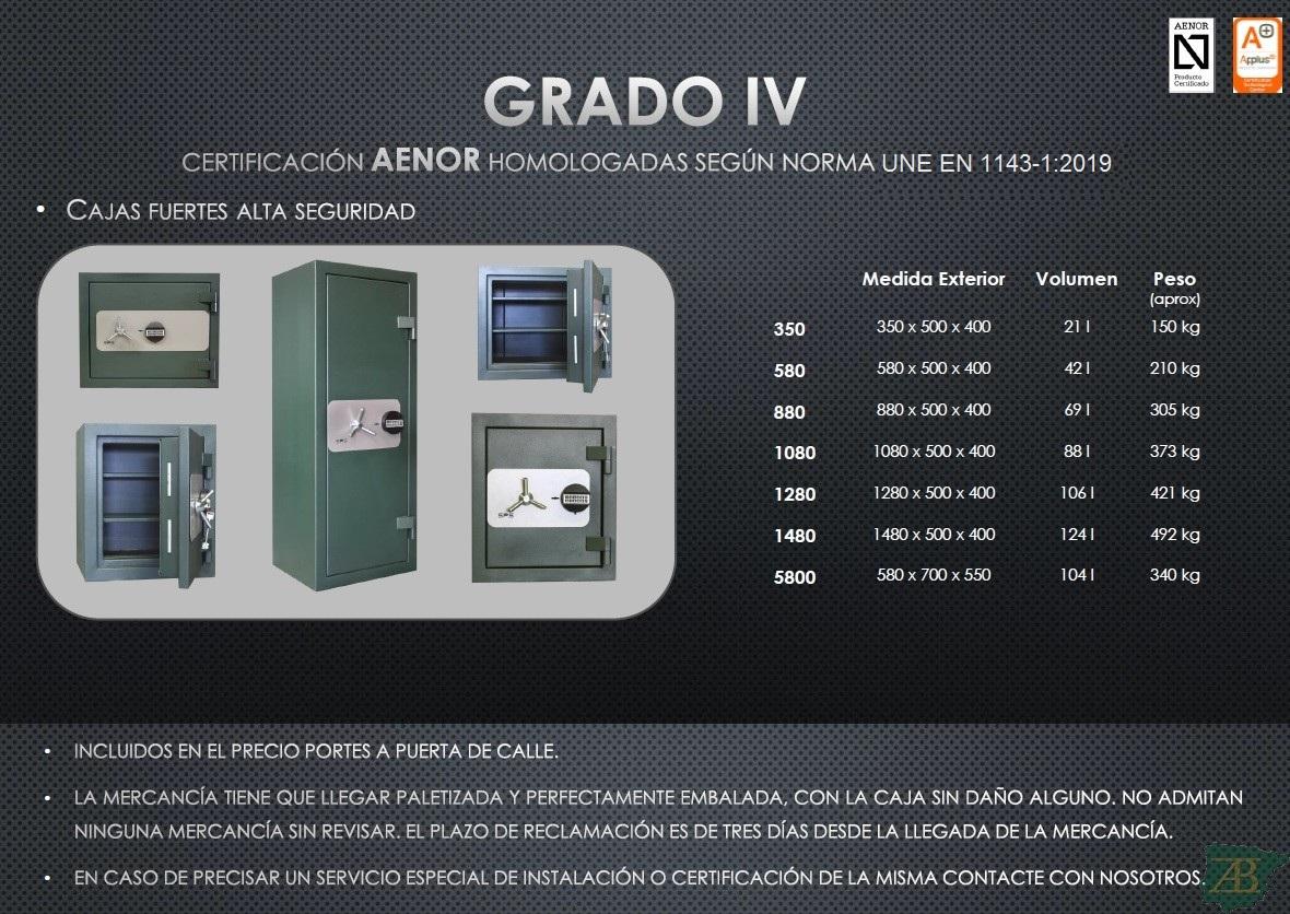 CAJAS FUERTES SPS ALTA SEGURIDAD GRADO IV – HOMOLOGACIÓN 2012