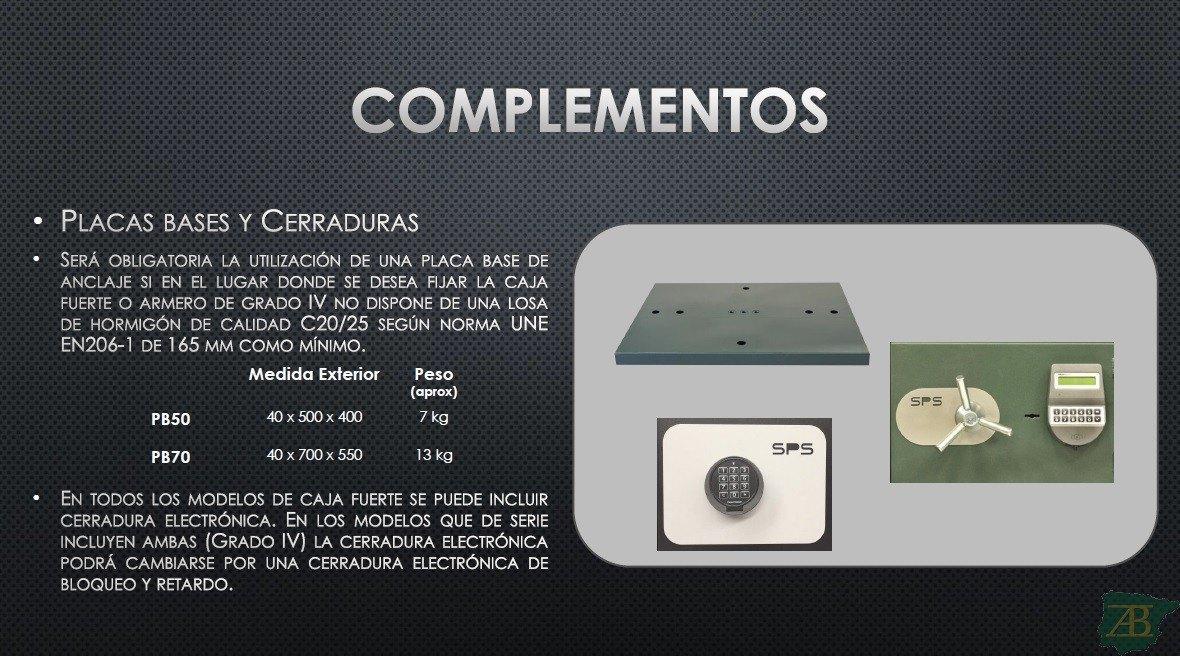 COMPLEMENTOS SPS PARA ARMEROS Y CAJAS FUERTES