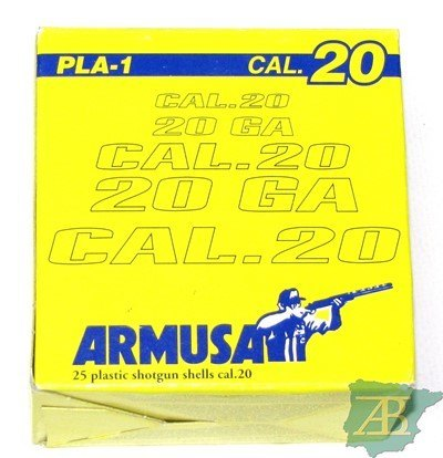 CAJON CARTUCHOS ARMUSA PLA 1 CAL. 20 28GR