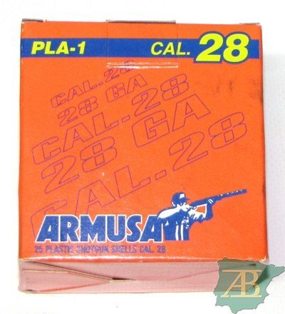 CAJON CARTUCHOS ARMUSA PLA 1 CAL. 28 21GR