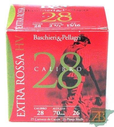 CAJON CARTUCHOS B&P EXTRA ROSSA CAL. 28 26GR