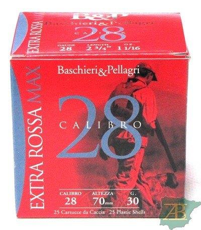 CAJON CARTUCHOS B&P EXTRA ROSSA CAL. 28 30GR