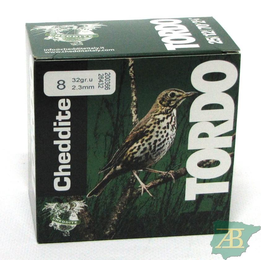 CAJON CARTUCHOS CHEDDITE TORDO 32GR