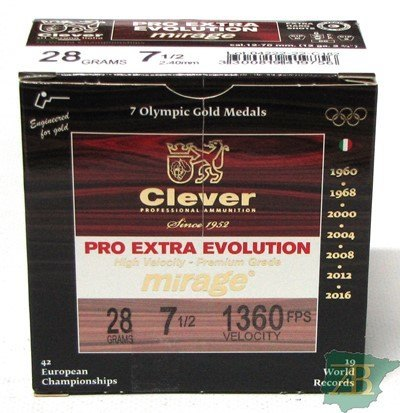 CAJON CARTUCHOS CLEVER MIRAGE EVOLUTION T4 28GR