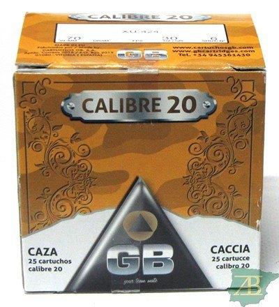 CAJON CARTUCHOS GB CAL. 20 30GR