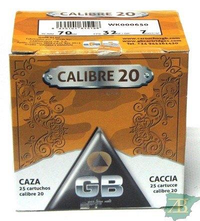 CAJON CARTUCHOS GB CAL. 20 32GR