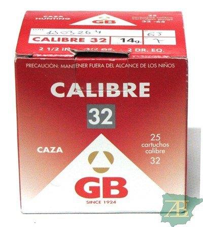 CAJON CARTUCHOS GB CAL. 32 14GR