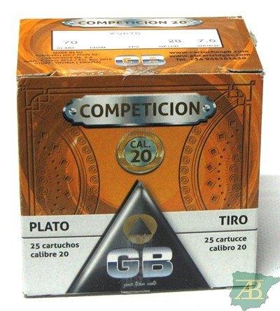 CAJON CARTUCHOS GB COMPETICION CAL. 20 28GR