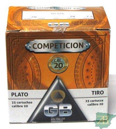 CAJON CARTUCHOS GB COMPETICION CAL. 20 24GR