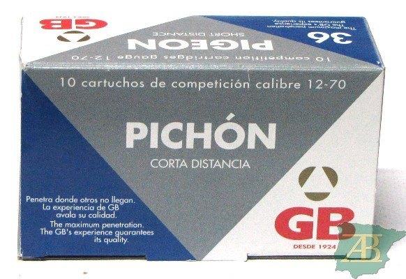 CAJON CARTUCHOS GB PICHON C.D 36GR (10UND)