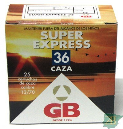 CAJON CARTUCHOS GB SUPER EXPRESS 36GR