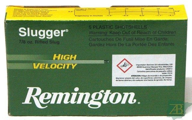 CARTUCHOS BALA REMINGTON CAL.12 SLUGGER HV
