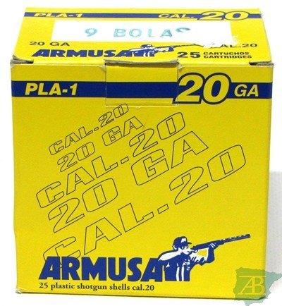 CARTUCHOS POSTAS ARMUSA CAL20 9 POSTAS