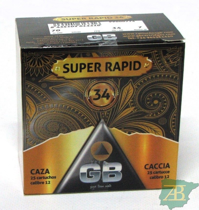 CAJON CARTUCHOS GB SUPER RAPID 34GR