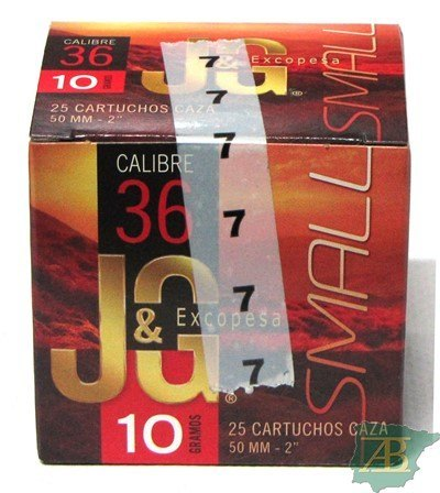CAJON CARTUCHOS JG CAL.36 50MM 10GR