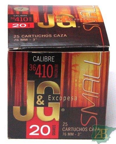 CAJON CARTUCHOS JG CAL.36 76MM 20GR