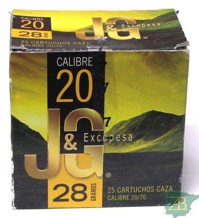 CAJON CARTUCHOS JG T3 CAZA CAL. 20 27GR