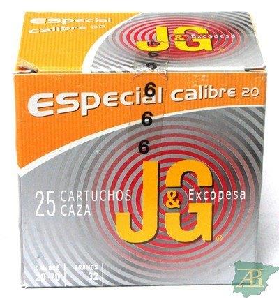 CAJON CARTUCHOS JG T3 CAZA CAL. 20 32GR