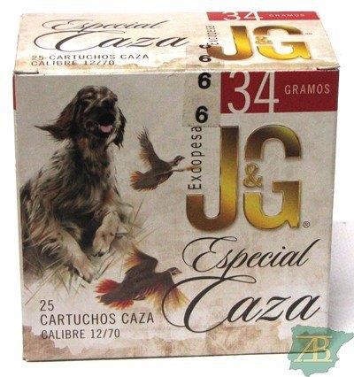 CAJON CARTUCHOS JG T4 ESPECIAL CAZA 34GR