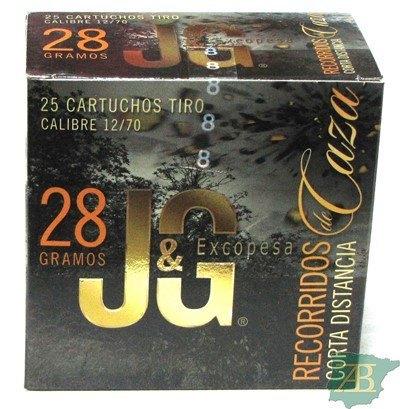 CAJON CARTUCHOS JG RECORRIDO DE CAZA C.D 28GR