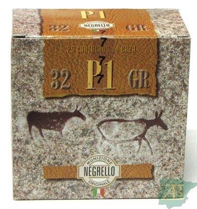 CAJON CARTUCHOS NEGRELLO CACCIA 32GR