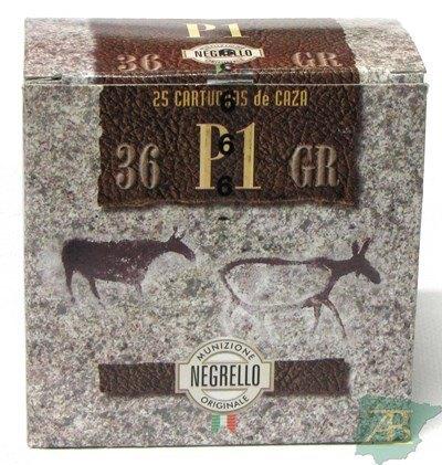 CAJON CARTUCHOS NEGRELLO CACCIA 36GR