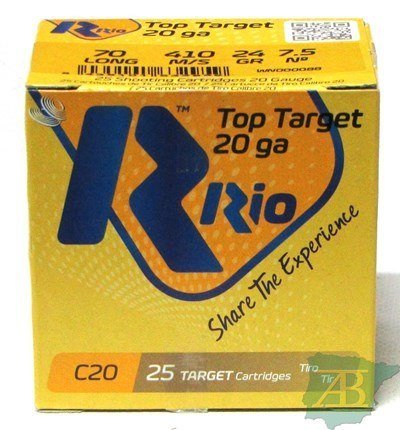 CAJON CARTUCHOS RIO TOP TARGET CAL. 20 24GR