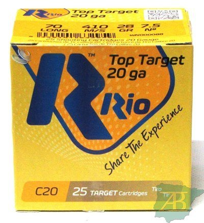 CAJON CARTUCHOS RIO TOP TARGET CAL. 20 28GR