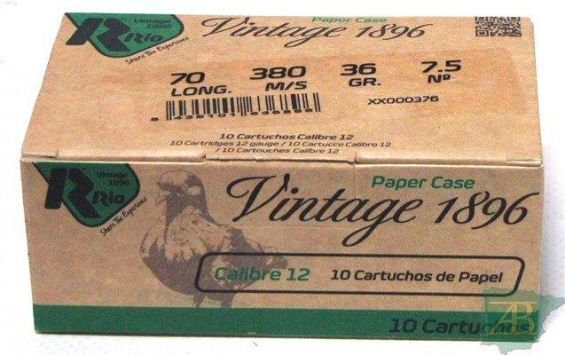 CAJON CARTUCHOS RIO VINTAGE PICHON  C.D 36GR(10UND)