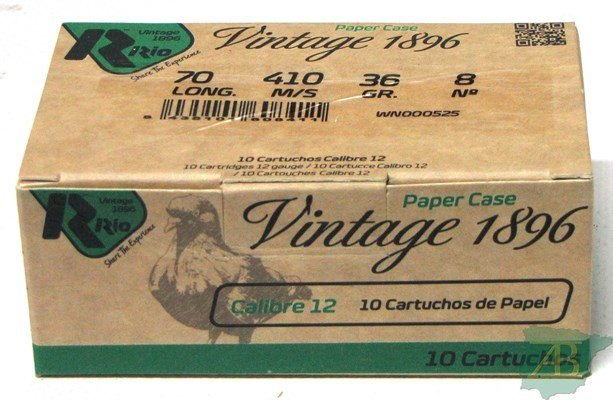 CAJON CARTUCHOS RIO VINTAGE PICHON  L.D 36GR (10UND)