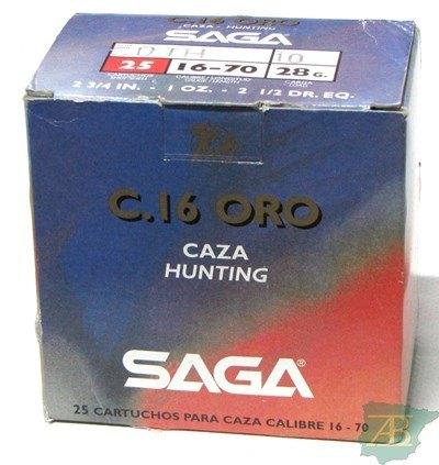 CAJON CARTUCHOS SAGA CAL. 16 GOLD 28GR