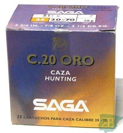 CAJON CARTUCHOS SAGA CAL. 20 GOLD 28GR