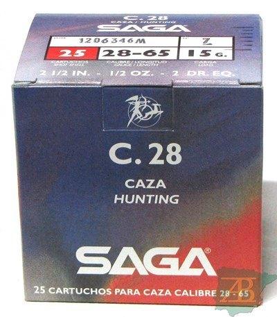CAJON CARTUCHOS SAGA CAL. 28 15GR