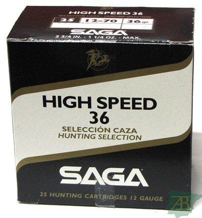 CAJON CARTUCHOS SAGA HIGH SPEED 36GR