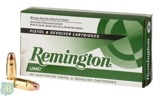 MUNICION METALICA ARMA CORTA REMINGTON PUNTA FMJ