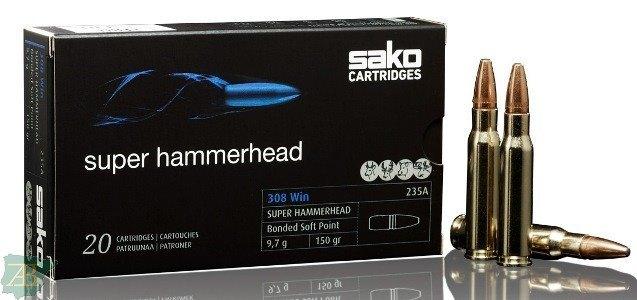 MUNICION METALICA ARMA LARGA SAKO PUNTA SUPER HAMMERHEAD
