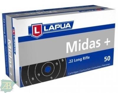 MUNICION METALICA ARMA CORTA LAPUA .22 MIDAS+