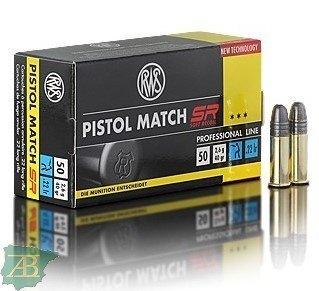 MUNICION METALICA ARMA CORTA RWS .22 LR PISTOL MATCH SR