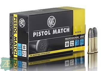 MUNICION METALICA ARMA CORTA RWS .22 LR PISTOL MATCH