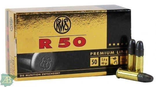MUNICION METALICA ARMA CORTA RWS .22 LR R-50