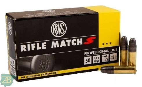 MUNICION METALICA ARMA CORTA RWS .22 LR RIFLE MATCH S