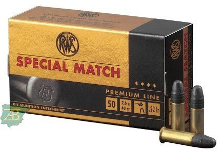 MUNICION METALICA ARMA CORTA RWS .22 LR SPECIAL MATCH