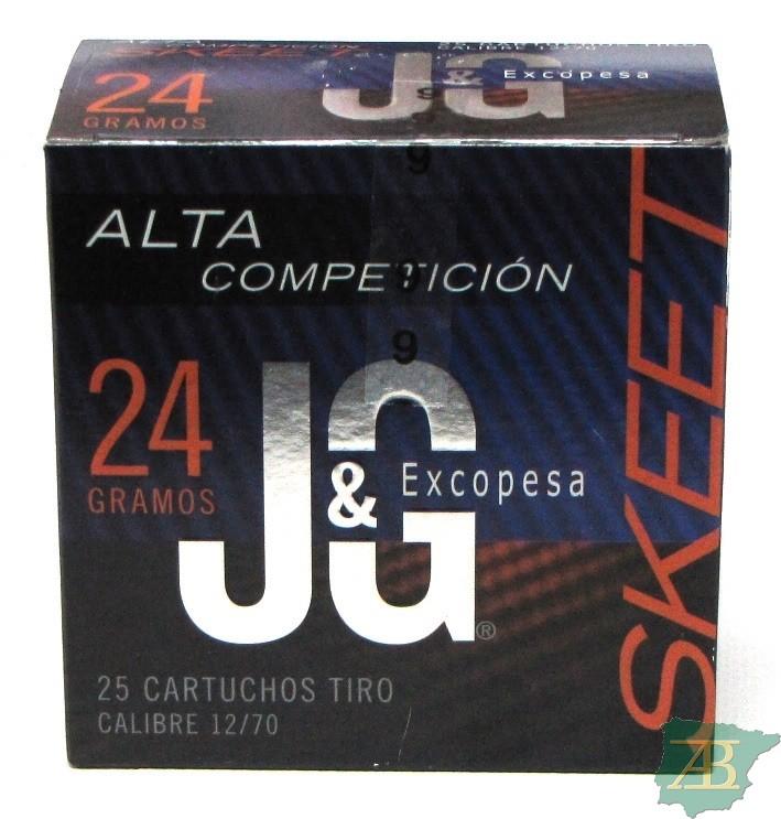 CAJON CARTUCHOS JG T4 SKEET ALTA COMPETICION 24GR